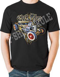 Hot Rod T Shirts Rat Rod Pinstripes Whitewalls Blown Hemi Small to 6XL and Tall #PitStopShirtShop #GraphicTee