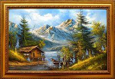 Items similar to Decorative oil painting on canvas, textured palette knife landscape - Mountain spring on Etsy Palette Knife, Oil Painting On Canvas, Art Oil, Original Paintings, Workshop, Mountain, Texture, Landscape, World