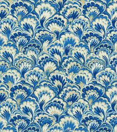 Williamsburg Upholstery Fabric-Murray Marble/Bluebell