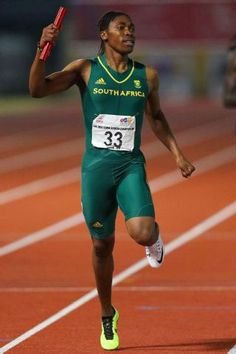 Katie Ledecky is crushing records, so why are we still worried about Caster Semenya?Caster Semenya as she wins the 4x400m finals in the Confederation of African Athletics Championships in June, 2016.