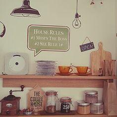 見せる収納/キッチン/コーヒーミル/KARITA/コーヒーのある暮らし...などのインテリア実例 - 2019-12-11 11:01:45 | RoomClip(ルームクリップ) House Rules, Shelves, Home Decor, Shelving, Decoration Home, Room Decor, Shelving Units, Home Interior Design, Planks