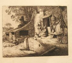 Antique Etching by Adriaen van Ostade /The by VintageHomeShop, $699.00