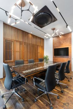 An Office Space with Visual Connectivity and Framed Compositions : The Metal and Tool Project   Sparc Design - The Architects Diary Office Decor, Conference Room, Space, Architects, Table, Projects, Connection, Furniture, Metal