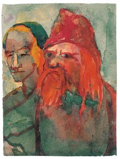 Emil Nolde Artwork. Emil Nolde, Degenerate Art, Ernst Ludwig Kirchner, New Berlin, Book Cafe, Modern Artists, Figurative Art, Les Oeuvres, Contemporary Art