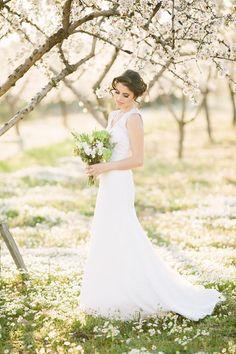 Almond orchard inspirational shoot with stunning lace #weddingdress