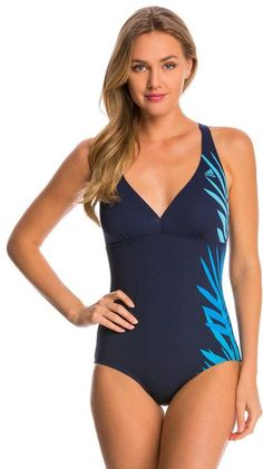 6eccebdbec Adidas Women's Shirred Front Crossback One Piece Swimsuit at SwimOutlet.com  - Free Shipping
