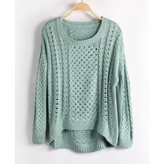 Green Jumpers with Cut Out Design and High Low Hem on Wanelo Cute Oversized Sweaters, Cute Sweaters, Fall Outfits, Casual Outfits, Cute Outfits, Green Jumpers, Cut Out Design, Sweater Weather, Comfy Sweater