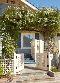 CURB APPEAL – another great example of beautiful design. Beach Cottage Renovation for Aging in Place with traditional entry in san francisco by Nancy Van Natta Associates.
