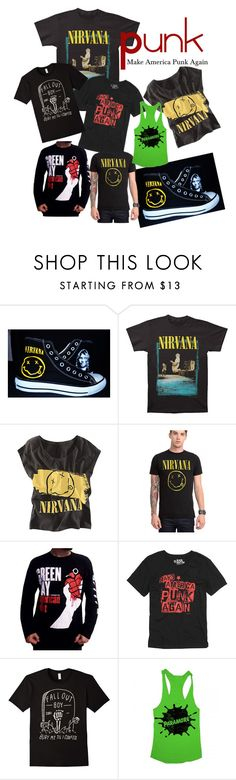 """Punk Junkie"" by lexi-holmes-i ❤ liked on Polyvore featuring Converse"
