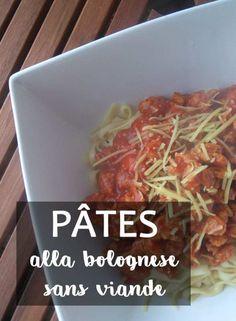 Recette des pâtes à la bolognaise véganes