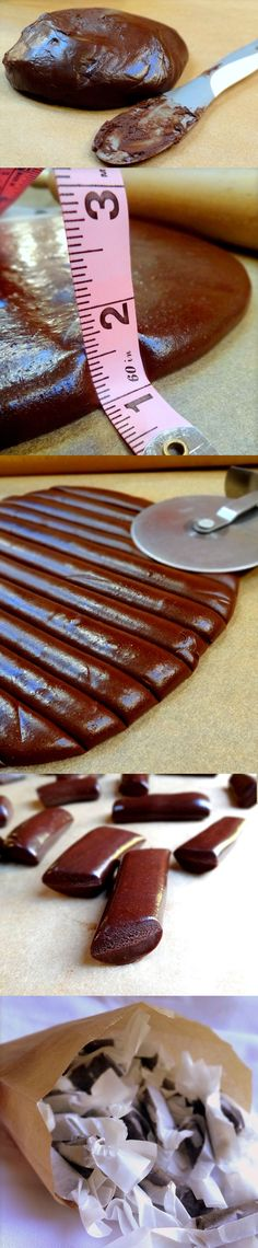 Homemade Tootsie Rolls Recipe #DIY    ...could be dangerous for a friend of mine.....you know who you are.....H