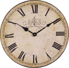 Vintage Clock Printables e.g. for glueing onto the recycled CDs for NewYears table decor