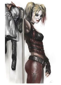 A great poster of Harley Quinn - foe of Batman and one of the hottest additions to the DC Comics Universe! Check out the rest of our excellent selection of Harley Quinn posters! Batman Arkham City, Gotham City, Dc Comics, Comics Girls, Heroine Marvel, Harley Quinn Et Le Joker, Harley Batman, Batman Batman, Marvel Dc