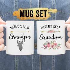 Grandma Mug, Mom Mug, Mother's Day Mugs, Mugs Set, Mother In Law Gifts, Gifts For Mom, Cool Gifts, Best Gifts, Grandparent Pregnancy Announcement