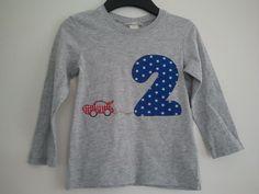 Langarmshirts - Geburtstags-Shirt Gr.98 - ein Designerstück von Nettes-Naehstuuv bei DaWanda