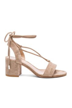 Gianvito Rossi Suede Lace Up Sandals @fwrd