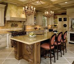 Old World Custom Kitchen - mediterranean - Kitchen - Other Metro - DesignArt Studios