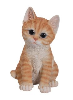 Realistic and Cute Orange Tabby Kitten Collectible Figurine Amazing Detail Glass Eyes Hand Painted Resin Life Size 8 inch Figurine Perfect for Cat Lover Collectible Cute Kittens, Cats And Kittens, Ginger Kitten, Cat Hacks, Cat Statue, Cat Care Tips, Austin Mahone, Cat Toys, Your Pet