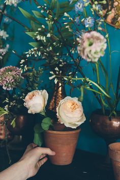 How to Create a Spring Garden Mantelpiece at Design*Sponge