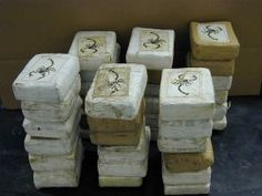 Bricks of cocaine labeled with a scorpion logo. The logo has been found on drugs linked to the Sinaloa drug cartel. Drug Enforcement Administration, Drug Cartel, Democratic Senators, Bad Apple, War On Drugs, So Little Time, Coca Cola, Pepsi, Feta