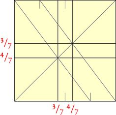 How to divide a square into sevenths.