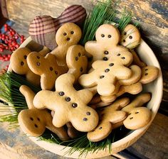 A bowl of gingerbread men
