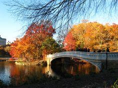 Mooie stadsparken in de herfst: Central Park