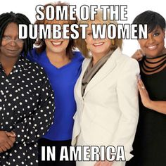 Slanted liberal media are the real racists in this country. They claim they love women, but only women that agree with their views. They silence all of the others.
