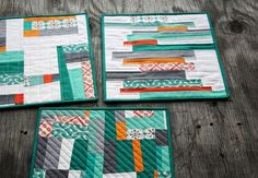 free piecing quilt block place mats