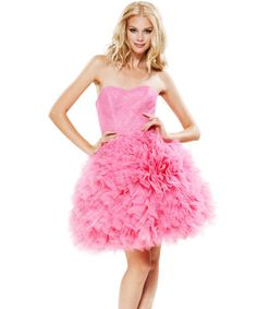 I Adore This Crazy Pink Betsey Johnson Dress Strapless Tulle