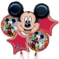 Mickey Mouse Bouquet 1 x Super Shape & 4 x 45cm Pkt5 $49.95 U18659