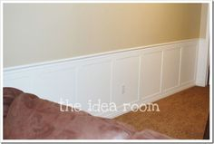 7 Enhancing Simple Ideas: Tall Wainscoting Door Trims types of wainscoting board and batten.Wainscoting Bedroom Pink wainscoting colors board and batten. Picture Frame Wainscoting, Wainscoting Height, Wainscoting Kitchen, Painted Wainscoting, Dining Room Wainscoting, Wainscoting Panels, Wainscoting Ideas, Wainscoting Nursery, Diy Wainscotting