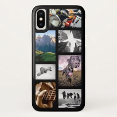 Black 7 Photo Collage iPhone X Case-Mate Case - photography gifts diy custom unique special