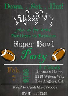 58 Best Super Bowl Party Invitations Images Party Needs Football