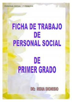 Personal social primer grado