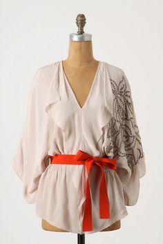 {English Rose Kimono Blouse by Yoana Baraschi, from Anthropologie [$148] }