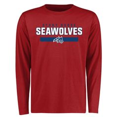 Stony Brook Seawolves Team Strong Long Sleeve T-Shirt - Red