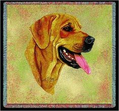 Pure Country 1943-LS Rhodesian Pet Blanket, Canine on Beige Background, 54 by 54-Inch => Special dog product just for you. See it now! : Pet dog bedding