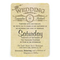 Old Love Letter Wedding Invitation