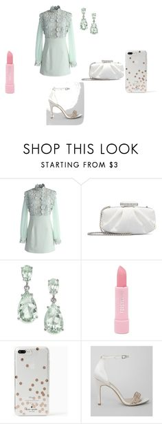 """Blue Green Dress Up"" by hanna-debruhl ❤ liked on Polyvore featuring Chicwish, Oscar de la Renta, Forever 21, Kate Spade and New Look"