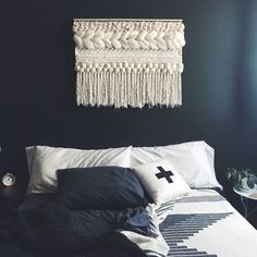 Hand Woven Wall Hanging | Ivory and Neutrals by UnrulyEdges on Etsy https://www.etsy.com/listing/448525586/hand-woven-wall-hanging-ivory-and