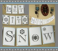 Let it Snow! Winter Banner by KassCeeBee #snowflakes