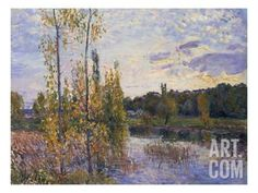The Lake at Chevreuil, 1888 Giclee Print by Alfred Sisley at Art.com
