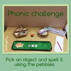 We use a mix of Jolly Phonics and 'Letters and Sounds' to teach phonics in my Foundation Stage Two class. I have various surfaces in my classroom which I use for independent challenges…