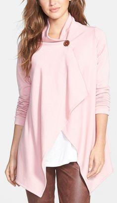 Asymmetrical Fleece Wrap Cardigan http://www.revolvechic.com/#!cardigans/c9u