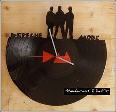 Depeche Mode vinyl clock.