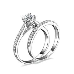 JewelryPalace 1.3ct Cubic Zirconia Anniversary Wedding Band Engagement Solitaire Ring Bridal Sets 925 Sterling Silver  Artisan handcrafted jewelry  Makes a wonderful gift for any occasion,Comes with a FREE jewelry bag.  Highest Quality CZ Cubic Zirconia, 925 sterling silver won't change color or get dark  Rhodium plating gives a bright, shiny, long-lasting silver-colored finish to a piece  30-Day Money Back Guarantee