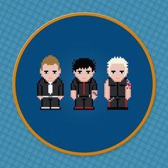 Green Day Rock Band - Digital PDF Cross Stitch Pattern
