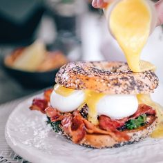 Banging benny feat. Smoking gun bagel! 💥 Check out our new updated menu at @concretejunglecafe 👀