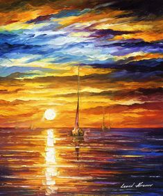 LONELY SEA 3 - Original Oil Painting On Canvas By Leonid Afremov http://afremov.com/LONELY-SEA-3-Original-Oil-Painting-On-Canvas-By-Leonid-Afremov-20-X24-50cm-x-60cm.html?utm_source=s-pinterest&utm_medium=/afremov_usa&utm_campaign=ADD-YOUR